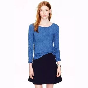 J. Crew Painter Tee in indigo long sleeves